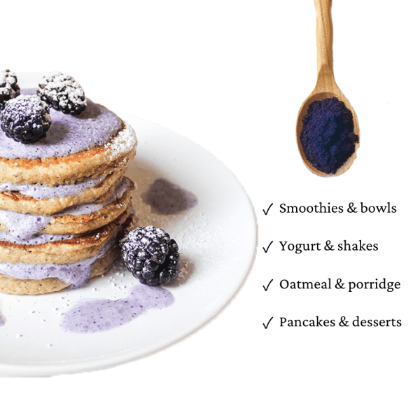 How to use blueberry powder