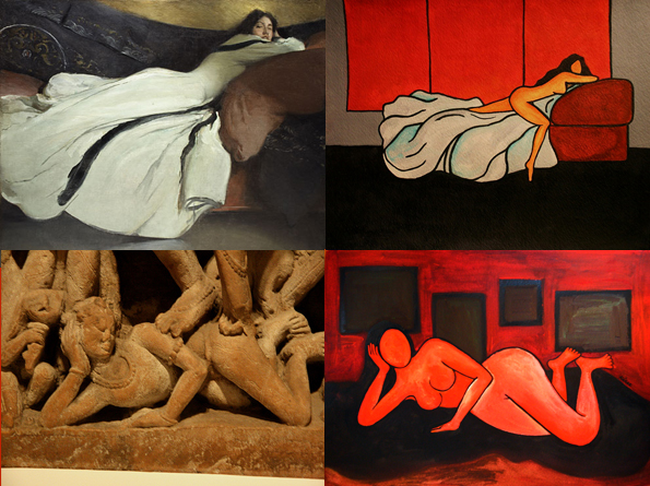 Inspired by John White Alexander and an ancient Indian architecture relief. I'm exempt from copyright violations only because these images are very old.
