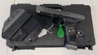 A variety of handguns