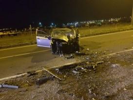 Ardahan'da otomobil ters yöne girdi: 1 ölü, 1 yaralı