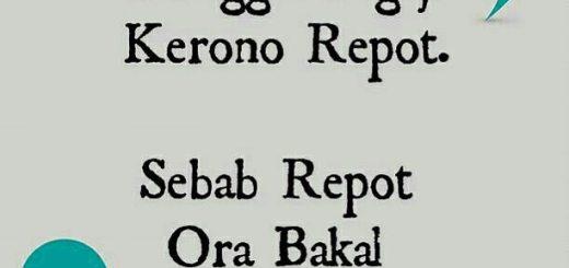 Ugo Ora Ninggal Ngaji Kerono Repot