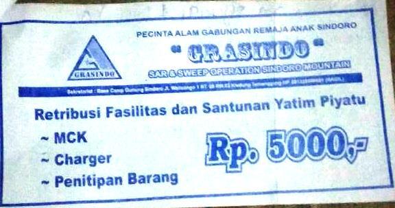 Tiket Pendakian Gunung Sindoro via Kledung (2)