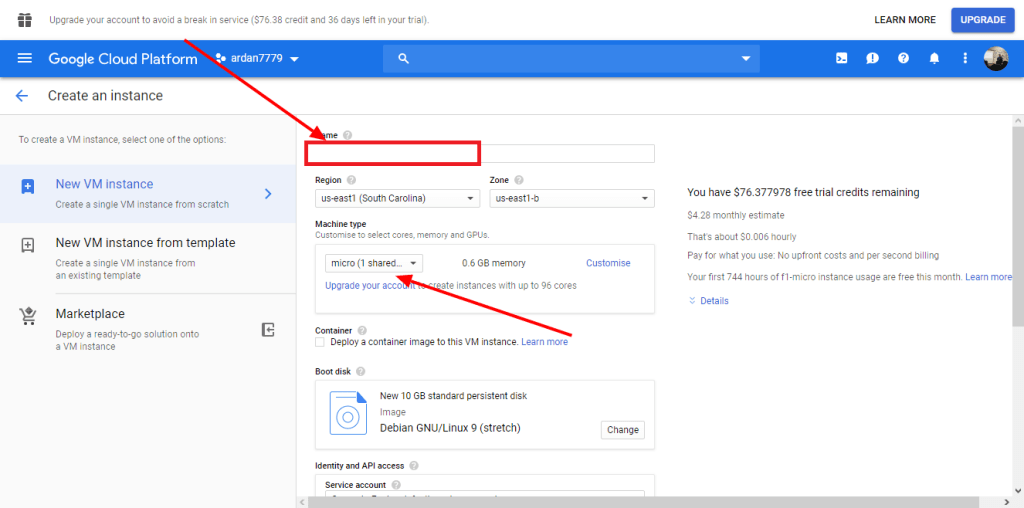 Membuat Virtual Machine di Google Cloud Platform