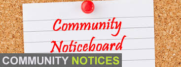 Community Notices Sunday 5th March, 2017