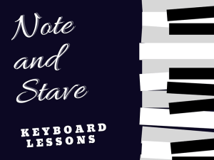 Note & Stave keyboard lessons