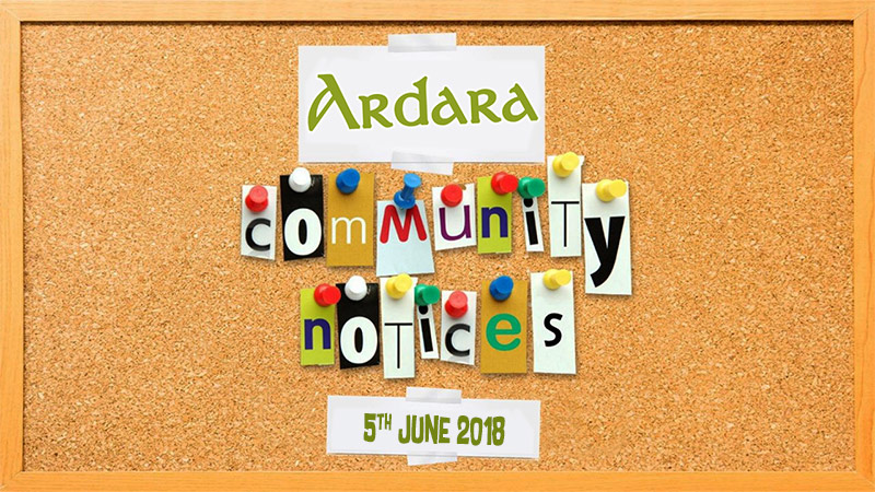 Ardara Community Notices 5th June 2018