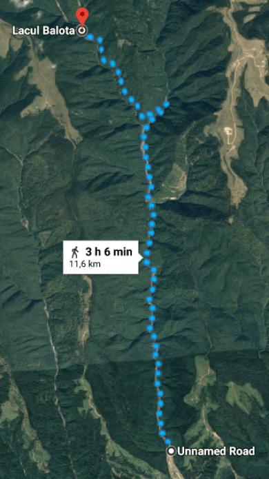 Traseu montan Lacul Balota