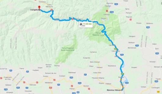 Harta - Ramnicu Valcea - Ciungetu