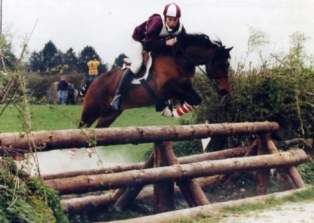 Park Filbert with Eoin Ryan in '97 at Pony Club Championships.