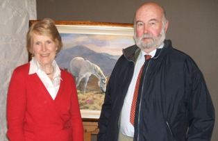 Lib Petch and husband John, picture for auction by Siobhan Bulfin