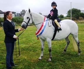 Champion Clochanard Dawn with Sadhbh O'Toole, led by Colette Staunton