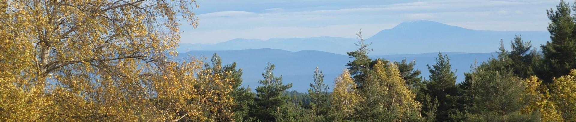 vue sur le mont ventoux en automne