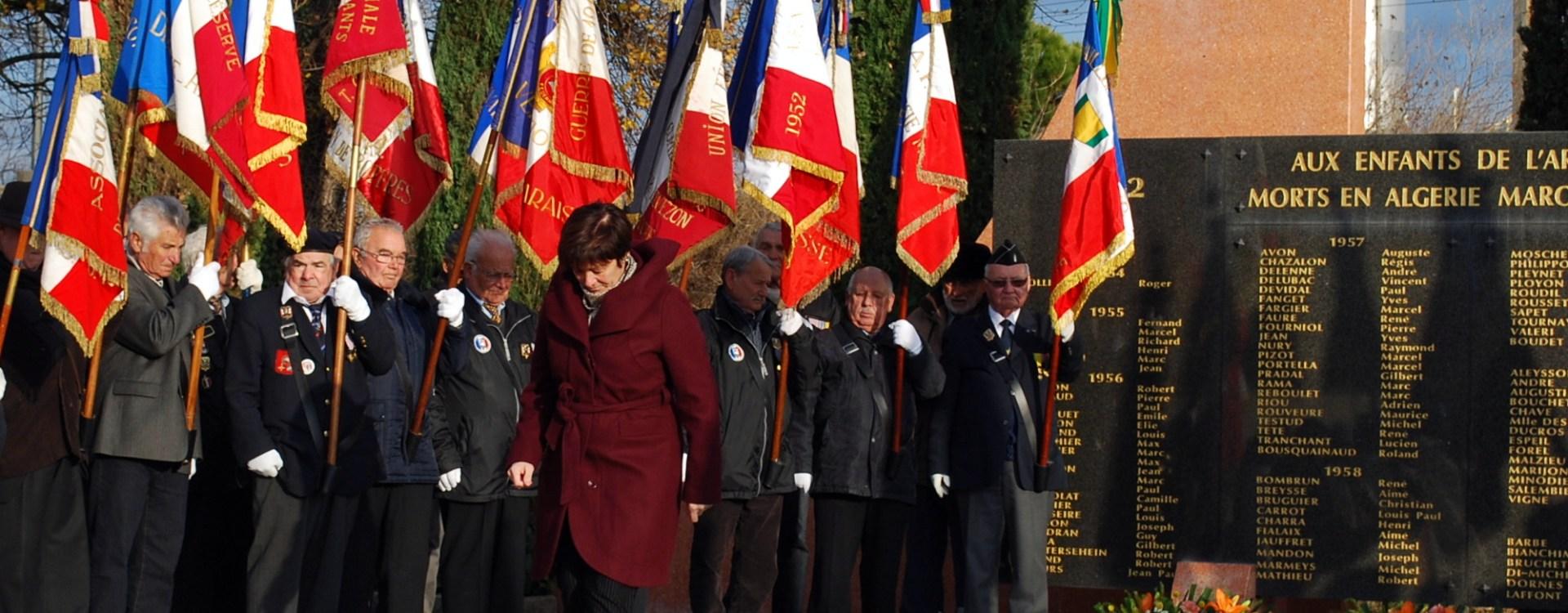Dominique PALIX présente pour la cérémonie de commémoration de la guerre d'Algérie au Pouzin