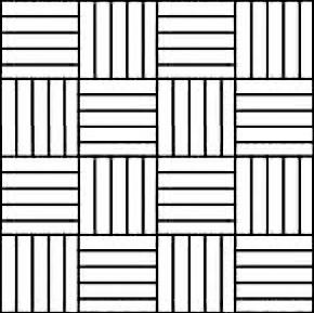damier, 12x12, dambord, mozaïek, mosaique, blokjes, onderparket, ondervloer, latjes, eik