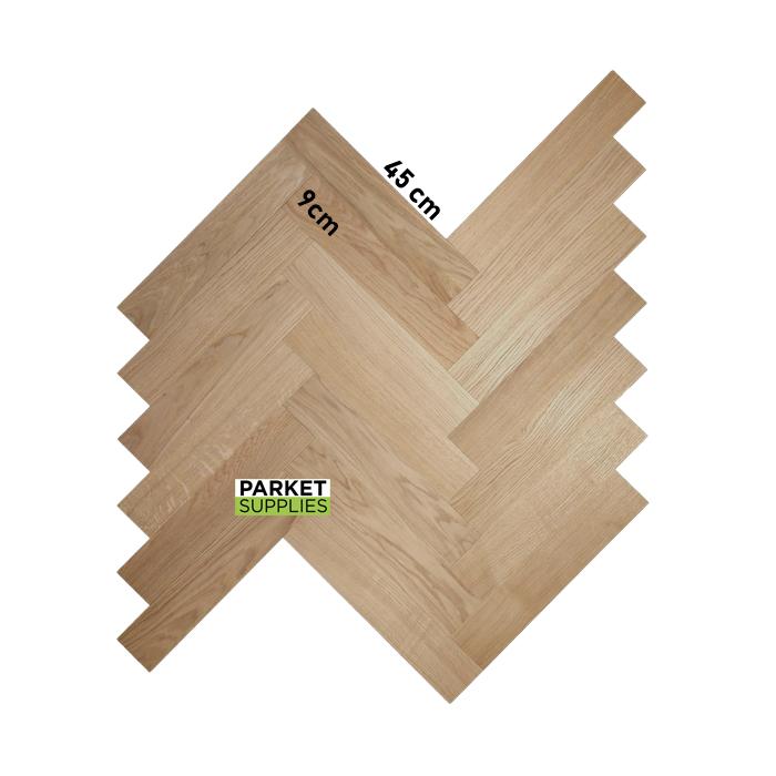visgraat eik, premier, 45 cm x 9 cm dikte 9 mm