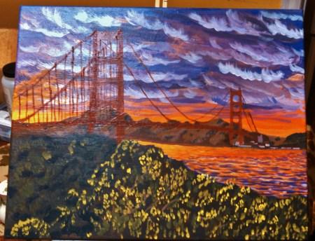 Golden Gate in Progress