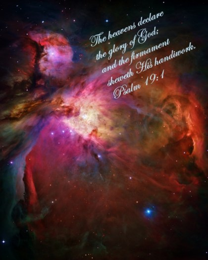 Orion Nebula with Psalm 19 verse 1 (512x640)