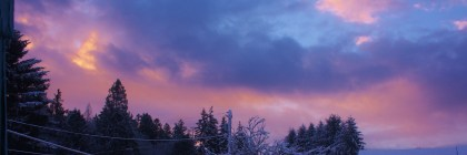Notice how the colors of this winter sky really stand out, all I did was turn up the saturation.