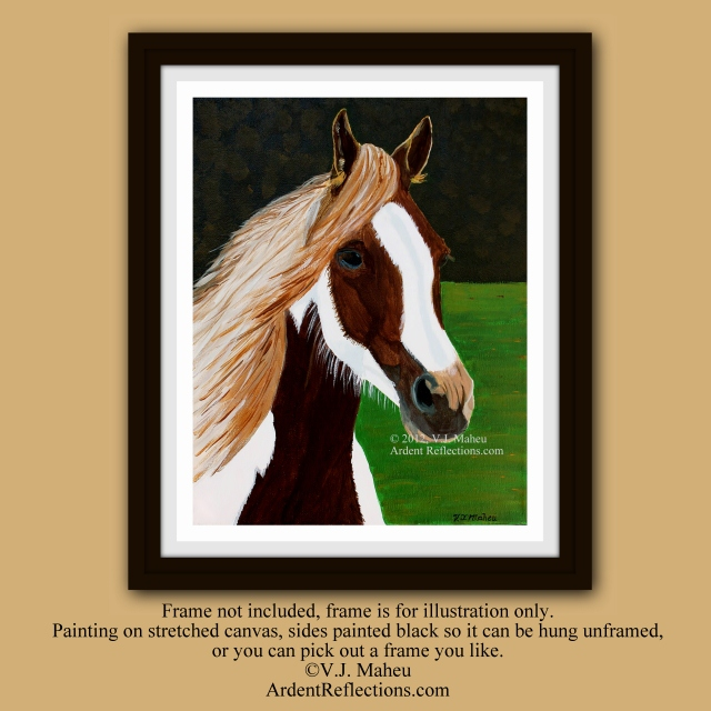 Painted Beauty, Horse painting