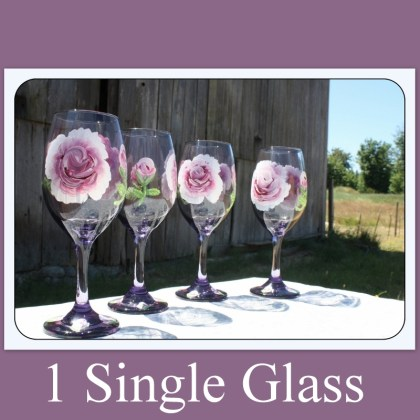 Unique wine glasses, colorful glasses, drink, Mother's Day gift, wedding glassware, hand painted glass, purple wine glass,rose,Item # HPWG-1 gift for mom, gift for her, gift for women, women's gift, painted stemware