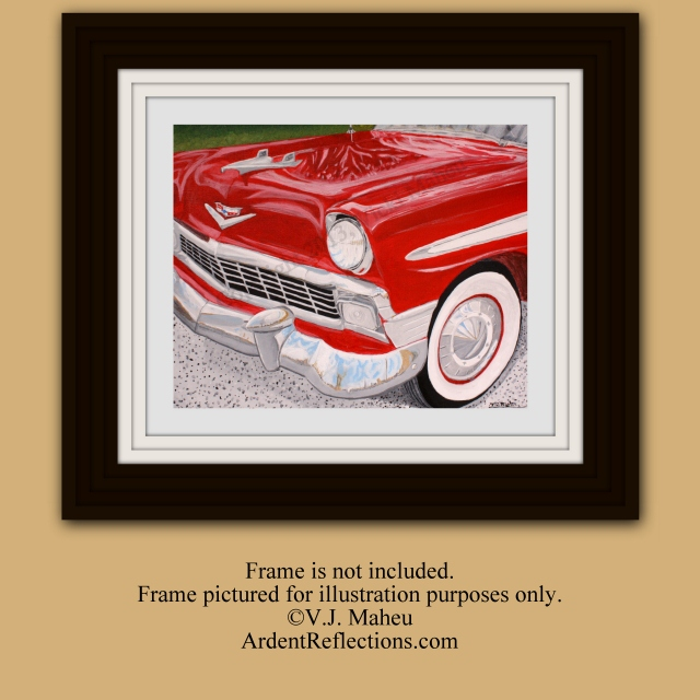 Classic Car Wall Art, Men's Gift, Father's Day Gift, Teenage Boy's Room, Man Cave Art, '56 Chevy, Classic Car Art, Giclee Print, Item #CKP1 56, 1956, retro car art, Chevy Bel Air, 1956 Chevy