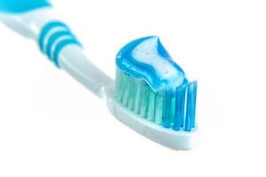 vegan toothpaste on brush