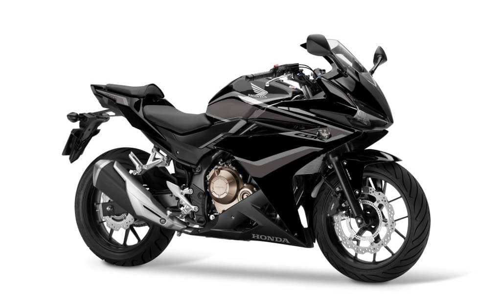 2018 CBR500R Graphite Black, Silver Stripe