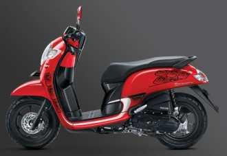 Honda Scoopy Sporty merah...