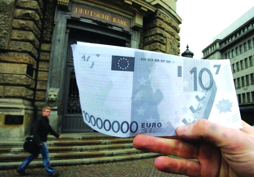 Flashmob-Aktion vor der Deutschen Bank
