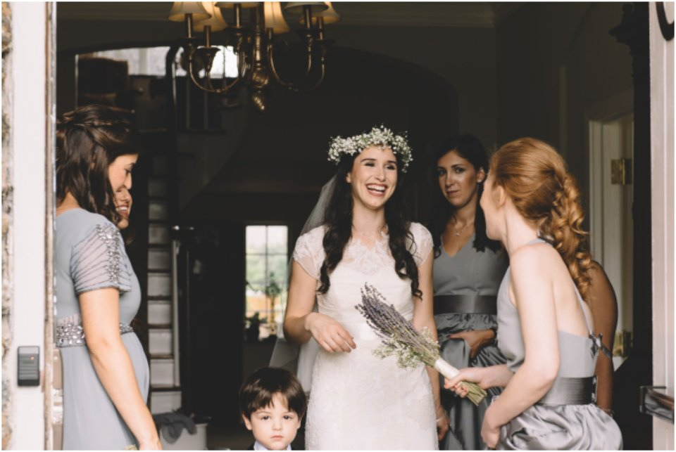 Bride with her bridesmaids, jewish wedding