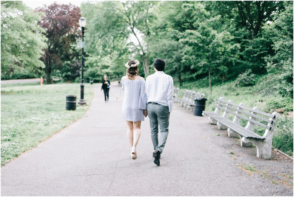 NYC Engagement Session at Fort Tryon Park The Cloisters