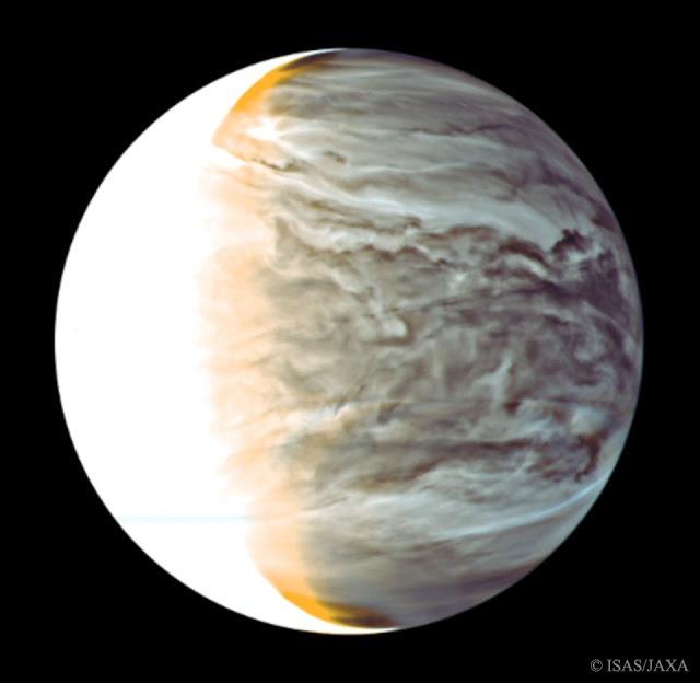 Inilah Sisi Malam Planet Venus yang Ditangkap Instrumen Inframerah Akatsuki