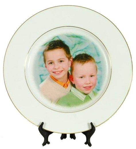 Une assiette photo en cadeau de noel