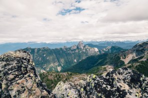 The end of Goat Ridge and the view of Mt. Habrick