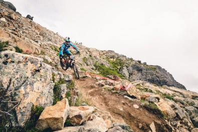 Greg Callaghan in the rock infested Peak area