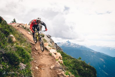 Jordan Hodder and one of the most iconic backdrops of Whistler