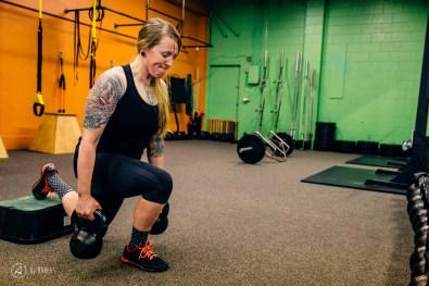 Sarah Leishman training to come back strong