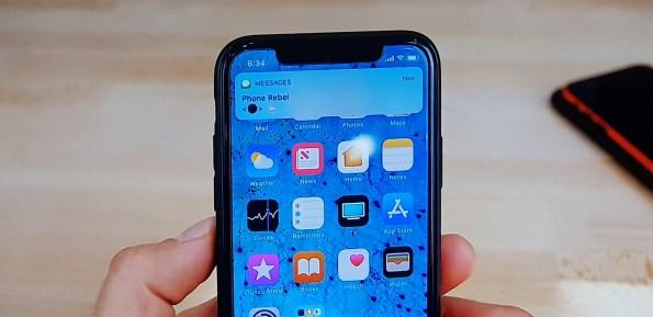 Black Dot message Fix iphone