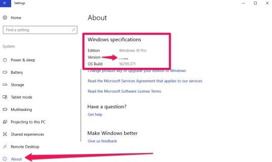 check windows 10 1803 install status