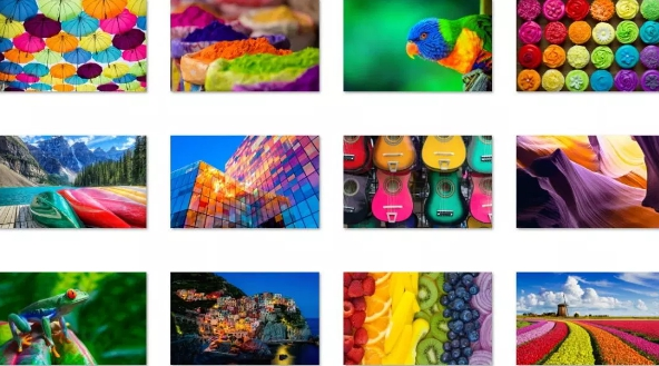 colors of the rainbow theme
