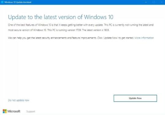 update assistant windows 10