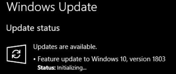 windows 10 version 1803 update