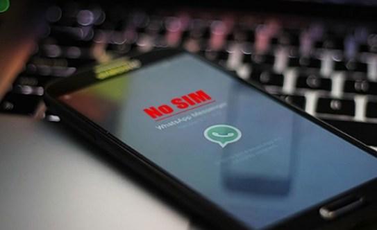 whatsapp no sim on android