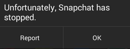 snapchat has stopped fix