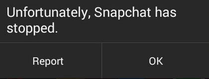 snapchat has stopped fix