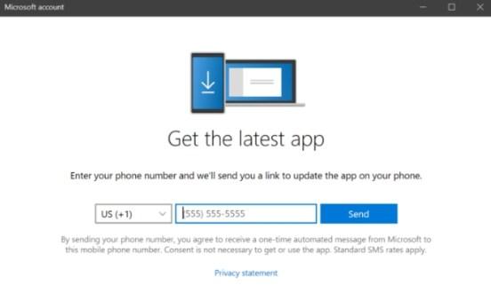 your phone app setup
