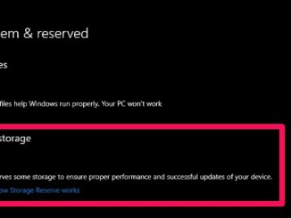 reserved storage windows 10