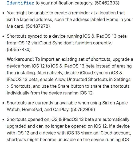 ios 13 beta 2 and ipados 13 beta 2 changelog 33
