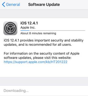 ios 12.4.1 release note