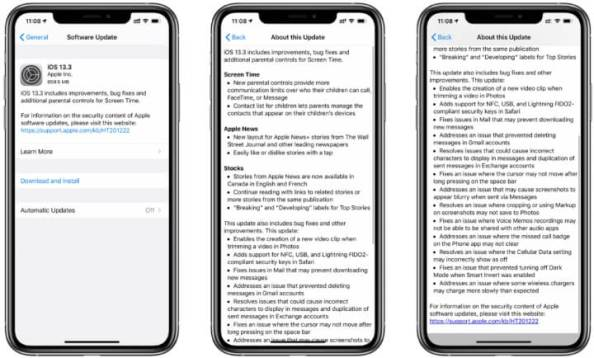 ios 13.3 full version changelog